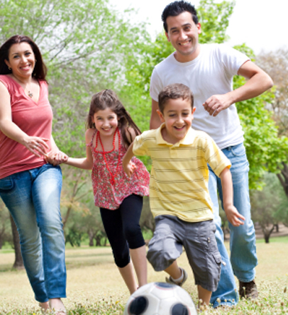 How to Sneak Some Exercise into Your Children's Activities ... Hispanic Family Exercise