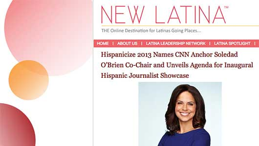 Hispanicize 2013 Names Soledad O'Brien Co-Chair