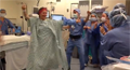 Dancing in the OR before breast cancer surgery.