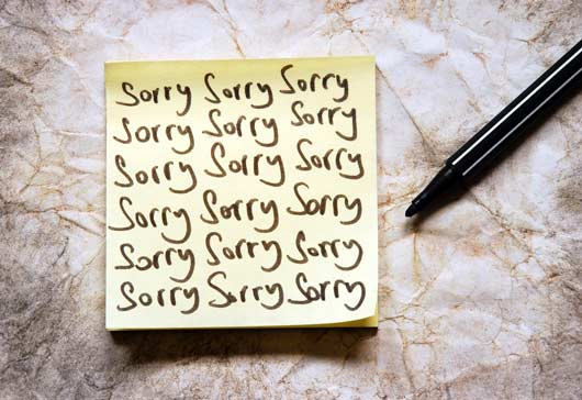 12 Excuses We Make to Avoid Saying 'I'm Sorry'